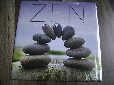 2020 - 16 Month Zen Wall Calendar-A Year Of Serenity-12 X 12-Sealed