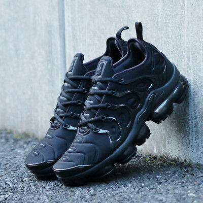 Nike Air Vapormax Plus Triple Black Mens Running Shoe 924453-004