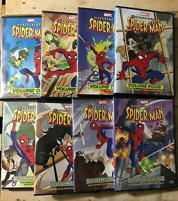 The Spectacular Spider-Man Volumes 1 Through 8 DVD Animated Series Spiderman
