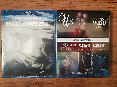 Halloween Get Out Blu-Ray + DVD + Digital / Us Digital Only - 2 Movie Combo Lot