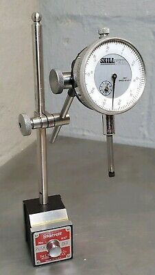 """Starrett No. 657AA magnetic base with a Skilltech 1"""" dial indicator"""