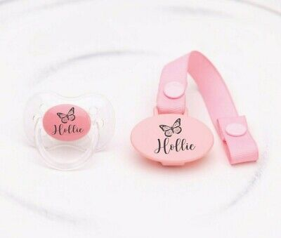 Personalised Soother **Cherry & Avent Style Teat** More Colours, Baby Gift