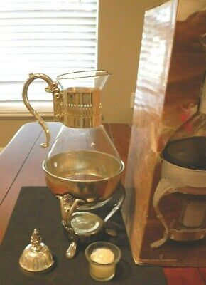 Silver Plated Coffee Carafe. Candle warming Style.