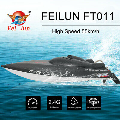 Feilun FT011 2.4G 55km/h Brushless High Speed RC Racing Boat Water Cooling W6A3