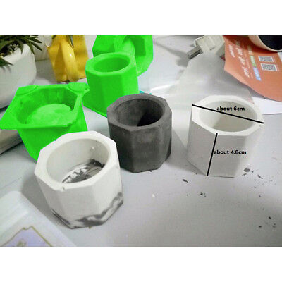3D Vase Craft Mould DIY Cement Planter Silicone Mold Concrete Flower Pot YI