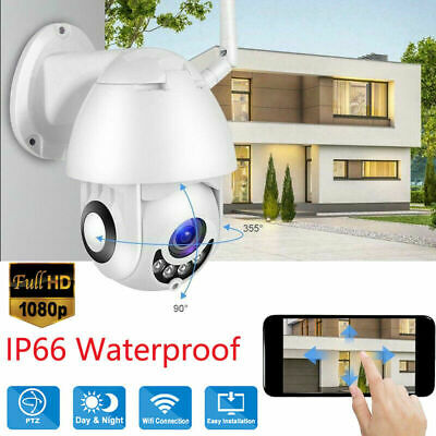 TELECAMERA PTZ 1080P FULL HD WIRELESS ESTERNA IP CAMERA MOTORIZZATA IR WIFI wv