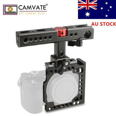 AU CAMVATE For Sony A6500 A6000 A6300 NEX7 Camera Cage Rig QR top Cheese Handle