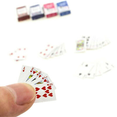 1Set 1:6/12Dollhouse Miniatures Accessories Playing Card Poker Home Bar Decor JF