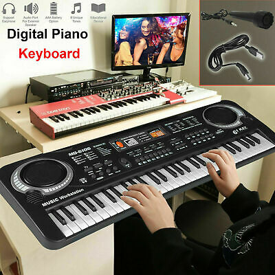 61 Keys Digital Electric Keyboard Electronic Music Piano Organ Sets & Microphone