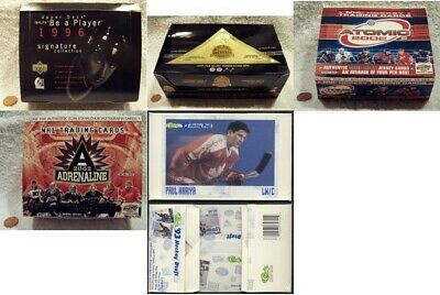 (5) RARE Hockey Card Empty Factory Boxes: You Pick, Choose From (5) + Bonus!