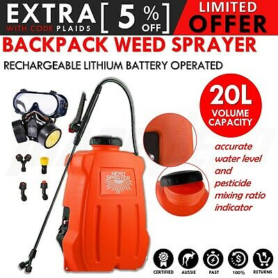 20L 12V Electric Sprayer Weed Rechargeable Backpack Garden Farm Pump Chemical