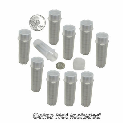 Nickel Square Coin Tubes by Guardhouse, 21mm, 10 pack