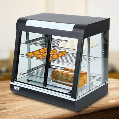 Commercial Food Warmer Pizza Pie Hot Display Showcase Tempered glass Cabinet