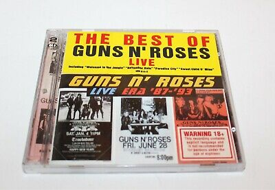 Guns N' Roses Live Era 87-93 CD 2-Disc Set 1999 Geffen Records Hype Sticker