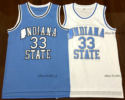 low priced 11a0e 7746d LARRY BIRD INDIANA State Men's Jersey # 33 Blue New with ...