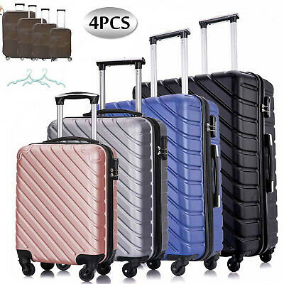 4 Piece Travel Hardshell Luggage Set ABS Lightweight Suitcase18'' 20'' 24'' 28''