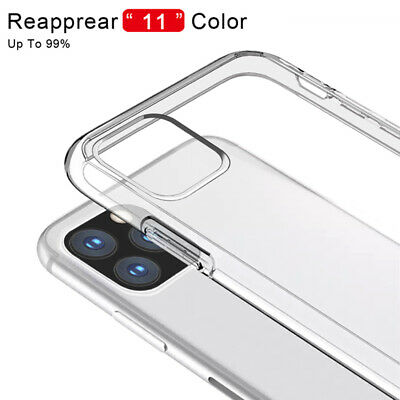 Case For iPhone 11 5.8/6.1/6.5'' XS Max XR 8 7 Clear Rigid Back Soft Edge Cover