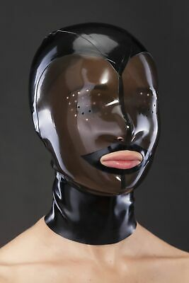 Realistic Latex Mask Sexy Rubber Unisex Hood Gummi 0.4mm for Catsuit Wear