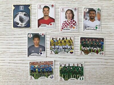 Lot Panini coupe du monde 2018