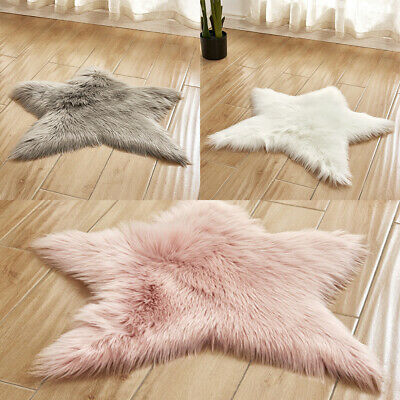 Shaggy Area Rug Plush Soft Rugs Fluffy Star Floor Carpet for Living Room Bedroom