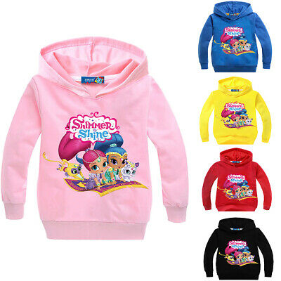 Shimmer and Shine Girls Kids Spring Fall Hoodie Sweatshirts Casual Clothing