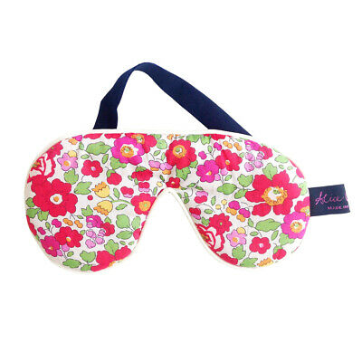 Famous Liberty London Fabric Betsy Red Print Cotton Padded Eye/Sleep Mask