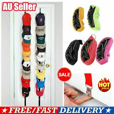 Baseball Cap Hat Holder Rack Organizer Storage Door Closet Hanging Adjustable RH