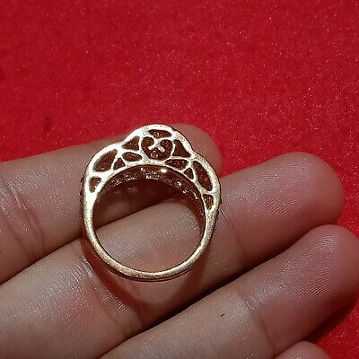 Extremely Rare Ancient Viking Old Ring Bronze Ancient Artifact Museum Quality