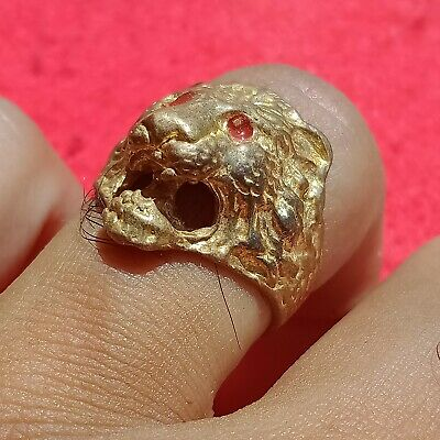 Extremely Rare Ancient Viking wolf Ring Bronze Ancient Artifact Museum Quality
