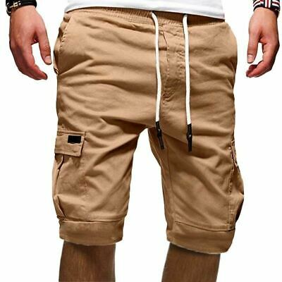 Mens Cargo Shorts Cool Summer Multi Pocket Loose Casual Pants Airborne Clothing