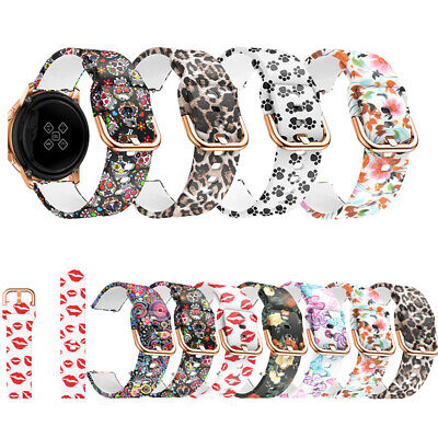 Fashion Sport Soft Silicone Printed 20mm Wrist Strap For Galaxy Watch Active