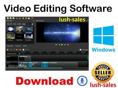 PROFESSIONAL VIDEO EDITING Software Movie Maker HD 4K - Windows 10 8 7 DOWNLOAD