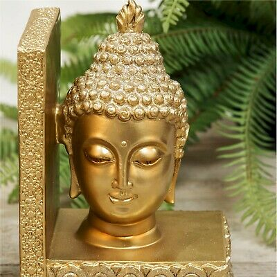 Golden Thai Buddha Bookends Gift Boxed WB63006