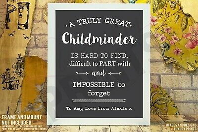 Personalised Great Childminder Thank You Picture Print Gift Leaving Present