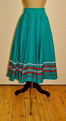 Vintage 80's Handmade FULL CIRCLE Skirt