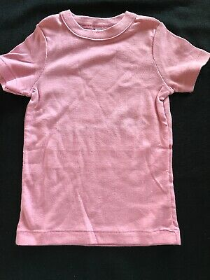 Petit Bateau NWOT Dusty Rose 100% Cotton Short Sleeved Shirt 2T