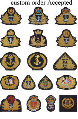 Supplier of hand embroidery bullion wire naval cap badges,patches,crests,navy