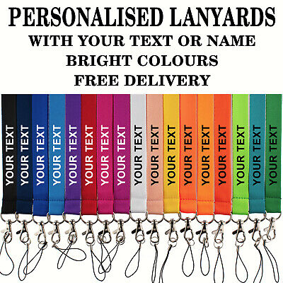 ROLSELEY Printed or Plain Lanyards - Personalized custom Neck Strap with Text