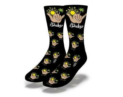 New Adult / Junior Savvy Sox Shaka Black Socks Limited Edition Release Osfa