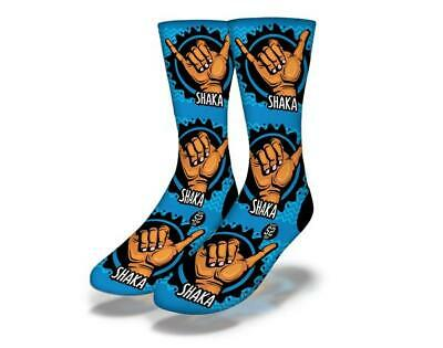 Brand New Adult / Junior Savvy Sox Shaka Blue Socks Limited Edition Release Osfa