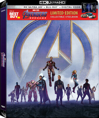 Avengers: Endgame SteelBook (4K UHD/Blu-ray/Digital) Fast Shipping Ready To Ship