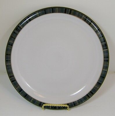 """Denby Jet Stripes Accent  10 1/2"""" Dinner Plate Made in England Stoneware NWT"""