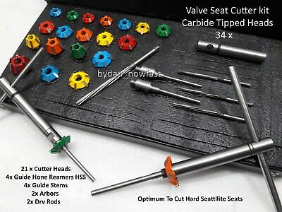 VALVE SEAT CUTTER KIT CARBIDE TIPPED Upto 300 cc Heads
