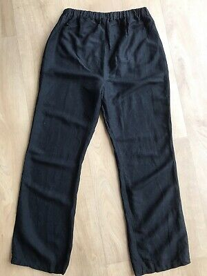 Dorothy Perkins Size 8 Black Trousers Stretchy Adjustable Elasticated Waist VGC