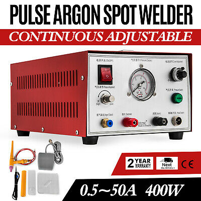 400W Soudure Par Points à Argon Pulsé 50A Machine À Souder Or Argent Platine