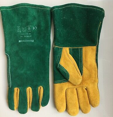 Honeywell WELDING GLOVES GREEN GAUNTLETS SIZE 8