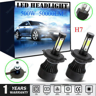 2x Fits BMW 3 Series Saloon Low High Beam H7 H7 500W 50000LM Headlight Bulb 12V