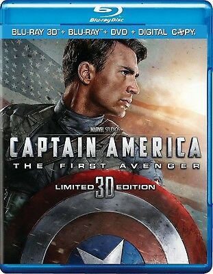 Captain America: The First Avenger (Blu-ray/DVD, 2011, 3-Disc Set; 3D)