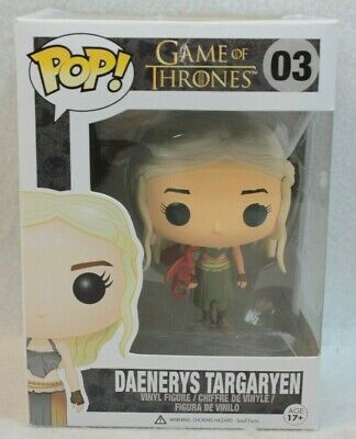 Funko Pop Game of Thrones DAENERYS TARGARYEN Vinyl Figure 03 Red Dragon ERROR