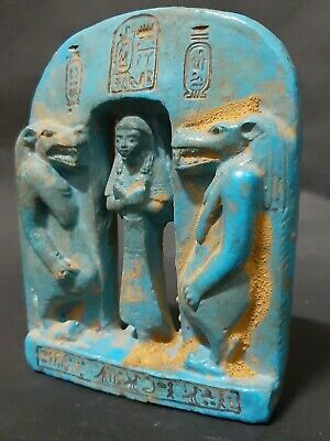 ANCIENT EGYPTIAN ANTIQUES Goddess Taweret Protective Palque Faience BC